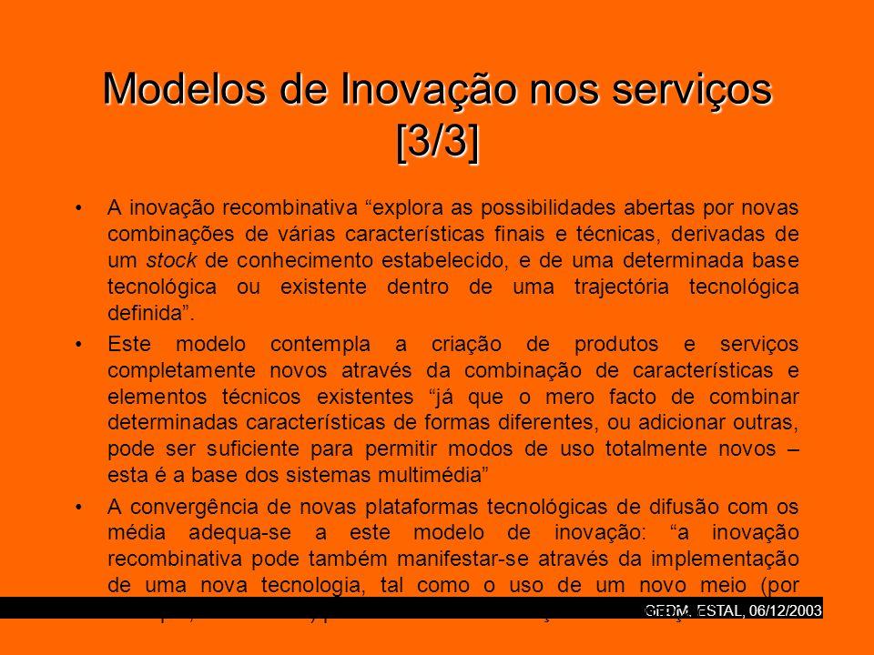 Modelos de Inovação nos serviços [3/3]